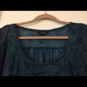 Lucky Brand Linen Blend Tunic Tee- Size 3X